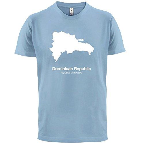 Dominican Republic / Dominikanischen Republik Silhouette - Herren T-Shirt - Himmelblau - XS