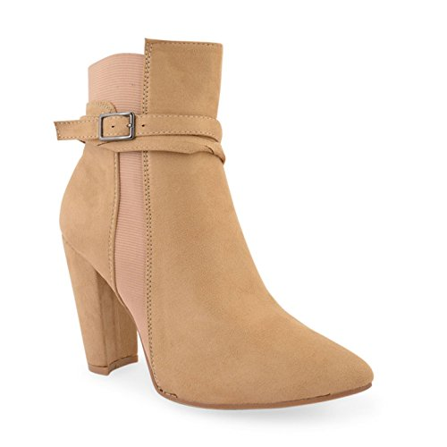 estilo Footwear Sensation Light mujer motero Suede Tan botas Sq6wqEH
