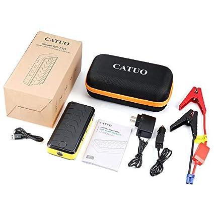 Amazon Com Catuo Portable 12v 400a 12800mah Dual Usb Short Circuit