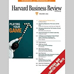 Harvard Business Review, December 2005
