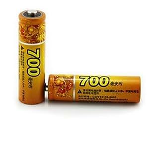 haomba 1.2v 700mAh recargable de baterías de NiMH AA 2pcs