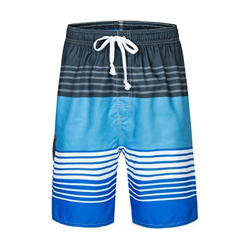 Mens Boardshorts Trunks - Clothin Men's Quick Dry Beach Boardshort Swim Trunks Swimming Shorts(Bright Blue,US 40)