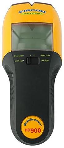 Zircon HD900 9 Volt 4-Mode Multiscanner for Finding Studs, Live Wire, or Metal w/ Backlit Display (Battery Not Included, Tool - Craftsman Stud Finder