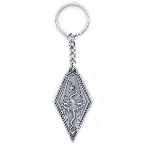The Elder Scrolls Skyrim Dragon Symbol Metal Keychain Symbol Scroll