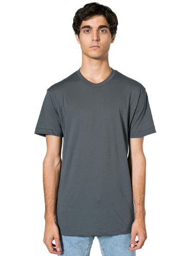 American Apparel Unisex Poly-Cotton Short Sleeve Crew Neck - Asphalt / L