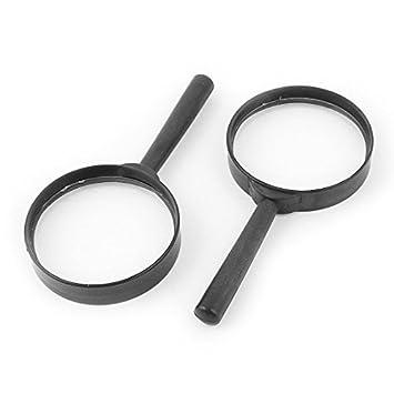 eDealMax portátil DE 60 mm Diámetro de la lente de aumento 5X lupa joyería 5pcs