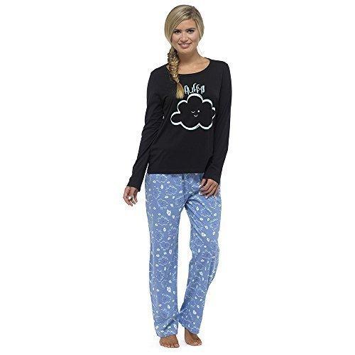 Mujer Tacto Suave Jersey Manga Larga Set Pijama Nube mullida