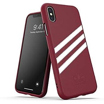 5746db1c5fb2b0 adidas Originals Moulded Suede Case for iPhone X XS - Collegiate Burgundy