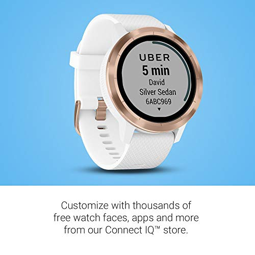 Beach Camera Garmin 010-01769-09 Vivoactive 3 GPS Smartwatch White with Rose Gold Bundle with 1 Year Extended Warranty