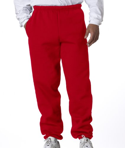 Jerzees Men's Super Sweatpants with Pocket (True Red/X-Large)