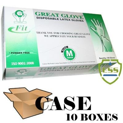 Great Glove - Latex Fit Powder Free Disposable Gloves - Case Size X-Large