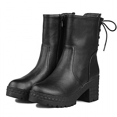 RTRY Women'S Boots Spring Fall Winter Platform Comfort Novelty Patent Leather Leatherette Wedding Office &Amp; Career Dress Casual Party &Amp; Evening US5 / EU37 / UK4 Big Kids d2F6EklZNi