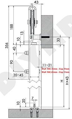 TSQ15/Kit Schiebet/ürbeschlag