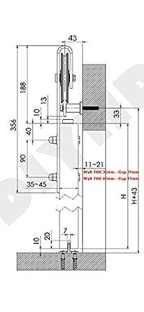 AiHom 1.83m llanta puertas acero puerta corrediza de granero Hardware