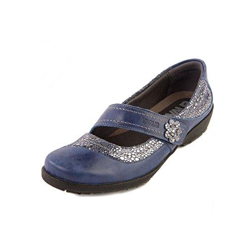 femme Shimmer Blue de Suave lacets ville Chaussures Royal à pour xzwYF68wq