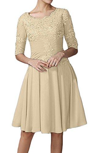 Brautmutterkleider Braut A Spitze Marie Champagner Ballkleider Linie Damen Knielang La Grau Abendkleider 8q5pc6