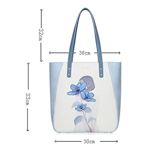 ZCJB Große Schultertasche College Wind Nette Handtaschen Fashion Printed Taschen Casual Handtasche Reisetasche