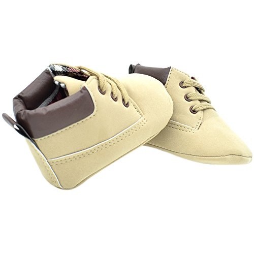 Etrack-Online Baby Sneakers - Zapatos primeros pasos de Otra Piel para niño Beige
