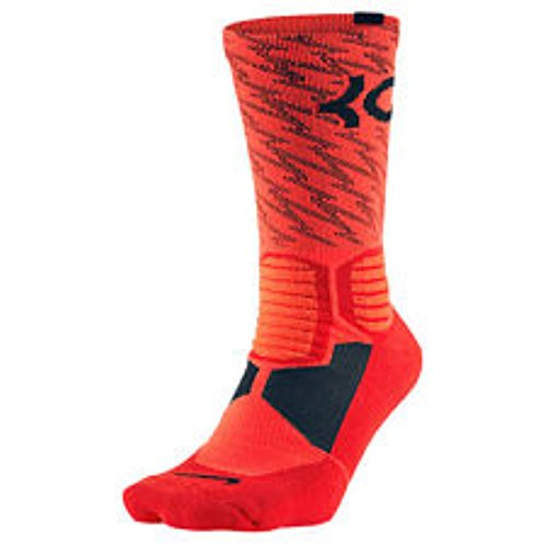 Nike Women's Hyper Elite KD Basketball Crew Socks Small (Shoe Size 4-6) Crimson, Black