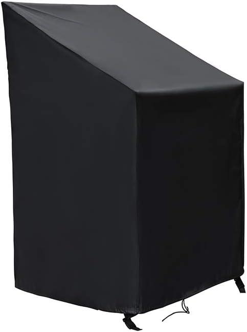 SIRUITON Fundas para Sillas Protectora para sillas de jardín y balcón Sillas contra la Intemperie Resistente al Agua, Protección UV 120 x 65 x 65/81 cm