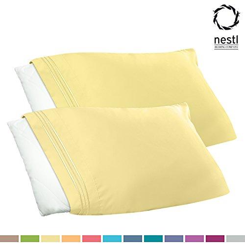 Cheapest Prices! Nestl Bedding Premier 1800 Pillowcase - 100% Luxury Soft Microfiber Pillow Case Sle...
