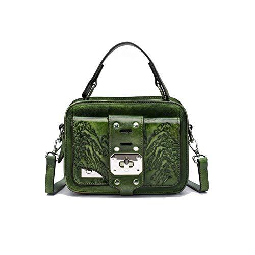 AJLBT La à Fait Bandoulière Sac Sac Main Green Dames Style à Style Rétro Simple Chinois Mode De rp6r8xqTHw