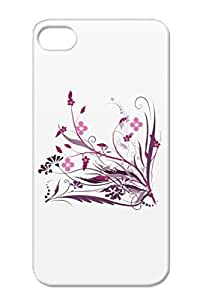Shatterproof Manga Floral Games Girl Portrait Naruto Ink Amazing Decal Glowing Sai Pink Ninja Flowers Abstract Anime Music Cherry Illustration Video Art Graphic Joshua Nerd Art Design Blossoms Cute Purple Floral Decal For Iphone 4s Protective Case