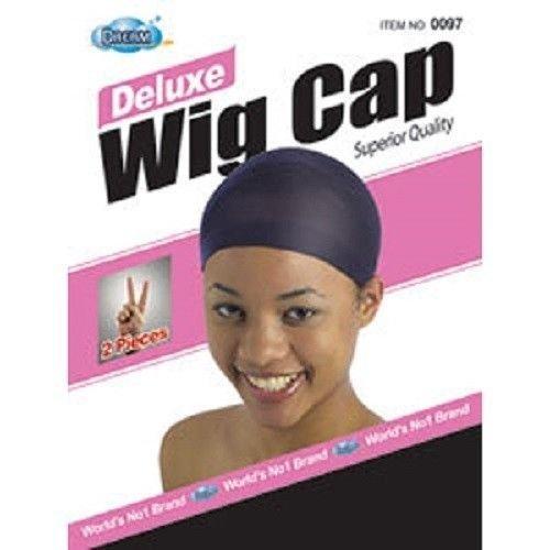 DREAM Deluxe Wig Cap Black 12 pieces (Model: 097 BLACK), Spandex cap