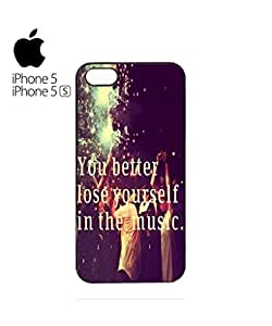 Loose Yourself in the Music Cell Phone Case Cover iPhone 5&5s White