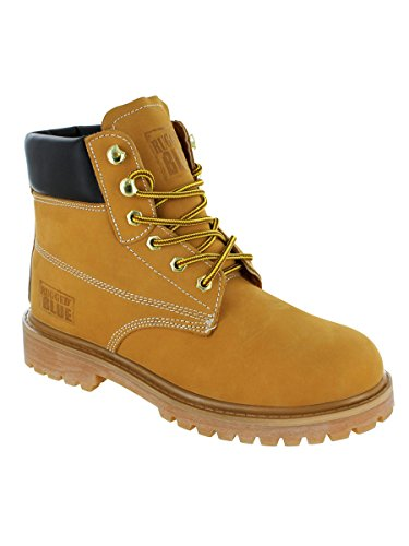 (Rugged Blue EST115-Tan-SOFT-9M Original Soft Toe Work Boots - Tan - 9M, English, Capacity, Volume, Leather, 9M, Brown ())
