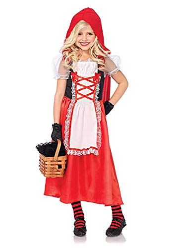 Tween Little Red Riding Hood Halloween Costume (AVIDE Little Red Riding Hood Costume for Girls Kids Halloween Cosplay Costume Party Roal Play Dress up)