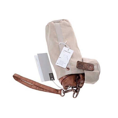 Pochette in pelle lavata con laccetto da polso e tracolla DUDU Onyx Brown