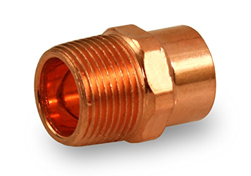 Everflow Supplies CCMA0012 Male Adapter Fitting with C X M Connections, (Solder Copper Plumbing)