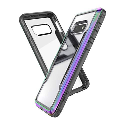(X-Doria Defense Shield Series, Samsung Galaxy S10e Phone Case - Military Grade Drop Tested, Anodized Aluminum, TPU, and Polycarbonate Protective Case for Samsung Galaxy S10e, (Iridescent) )