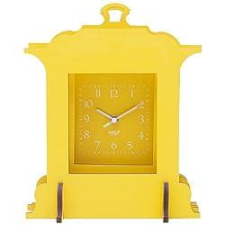 WOLF 333682 Jigsaw Grand Mantel Clock, Yellow