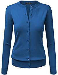 MBJ Womens Long Sleeve Button Down Classic Knit Cardigan...