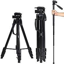 Camera tripod Albott 70 Inch Aluminum Travel Portable Tripod Monopod with Carry Bag