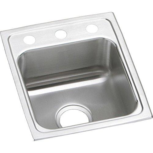 Elkay LR13161 Lustertone Classic Single Bowl Drop-in Stainless Steel Sink ()