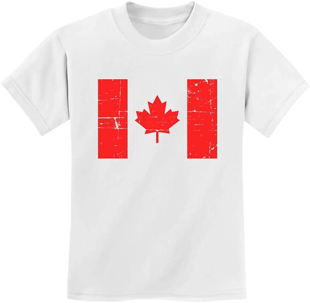 Canada Day Vintage Canadian Maple Leaf Canada Flag Retro Youth Kids T-Shirt