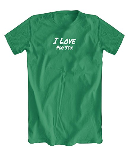 Shirts You Love I Love Pixy Stix T-Shirt, Men's Kelly Green, XX-Large
