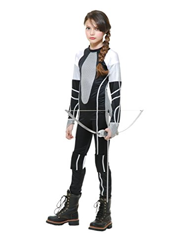 Girls Katniss Costumes (Charades Survivor Jumpsuit Child Costume-Small)