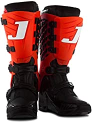 Bota Motocross Articulada Jett Hi-Vis Preta/Vermelha