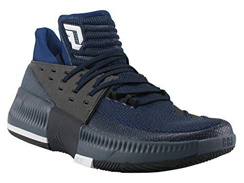 adidas D Lillard 3 - Zapatillas de baloncesto para Hombre, Azul - (AZUMIS/NEGBAS/FTWBLA) 46 2/3