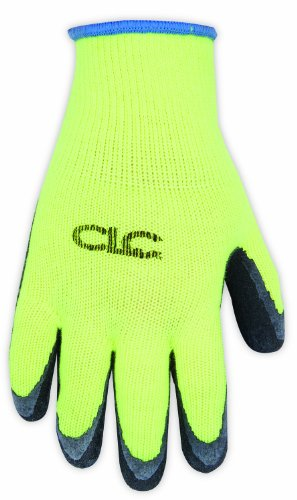 CLC Custom Leathercraft 2339X Hi-Viz Cold Weather Latex Gripper Gloves, (Latex Gripper Gloves)