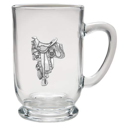 1pc, Pewter Saddle Coffee Mug, Clear