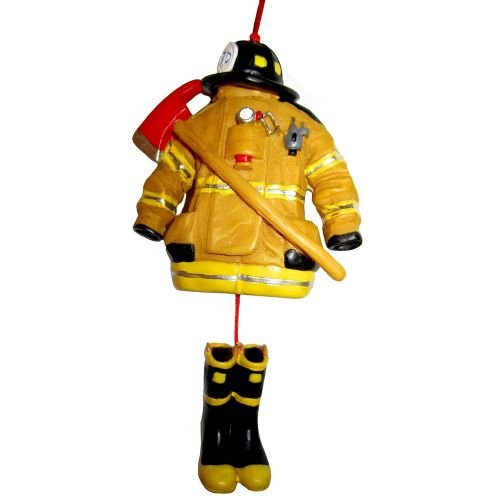 kurt adler 45 firefighter uniform christmas ornament