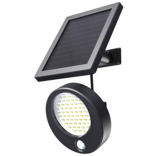 - Htzsafe Solar Lights Outdoor,66 LED Solar Motion Sensor Light-Rainy/Cloudy Days Can Charge The Light Properly-Adjustable Lighting Angle and Solar Panel-IP65 Waterproof DIY Security Motion Light
