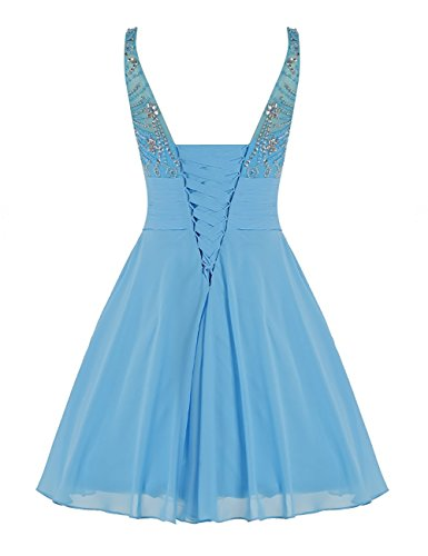 MEILISAY Prom for Dresses Dresses Teal Juniors Short Beading Sparkly 2018 Homecoming Women's wqfrwAxg
