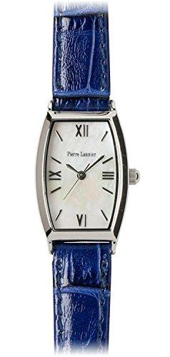 PIERRE LANNIER watch Tonneau Watch Silver / Croco embossed navy P131D690 C65 Ladies