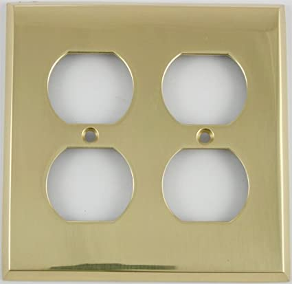 Polished Brass 2 Gang Duplex Outlet Wall Plate Switch And Outlet Plates